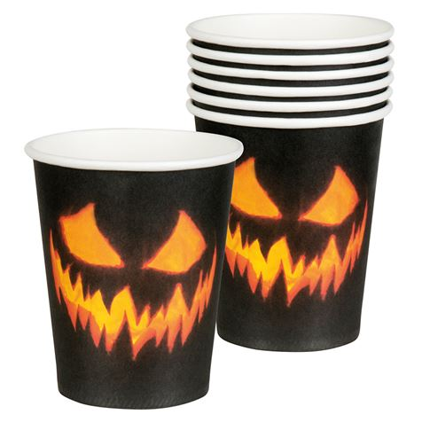 Creepy Pumpkin Cups 6Pk