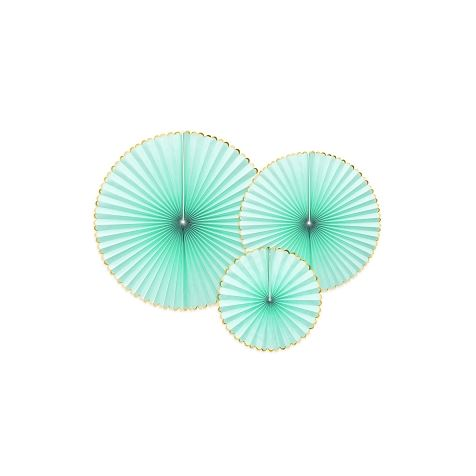 Light Mint Hanging Rosettes