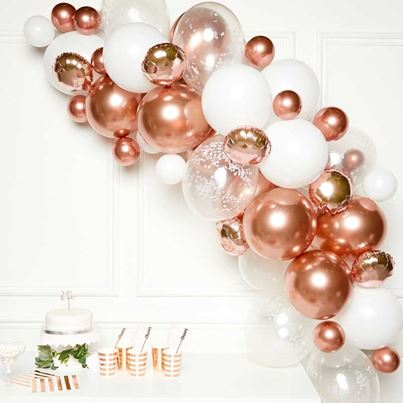 Amscan Rose Gold Balloon Garland Kit