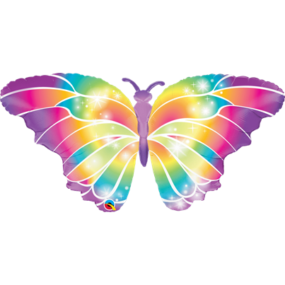 Qualatex Rainbow Butterfly Supershape