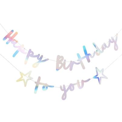 A Party Palace 'Happy Birthday To You' Iridescent Bunting