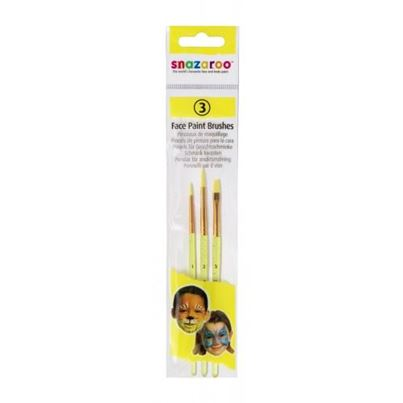 3 Face Paint Brushes