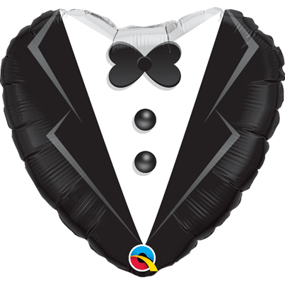 Wedding Suit Heart Foil
