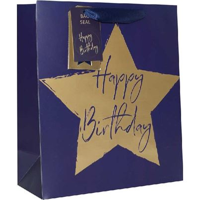 Crosswear Blue Starry Birthday Gift Bag