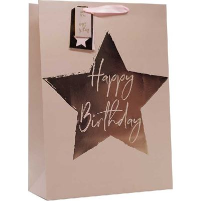 Crosswear Pink Starry Birthday Gift Bag
