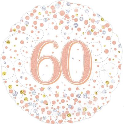 Age 60 Rose Gold Birthday Foil