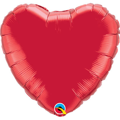 Qualatex Plain 18 inch Foil Heart