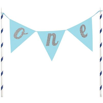 Creative Party Blue Cake Topper