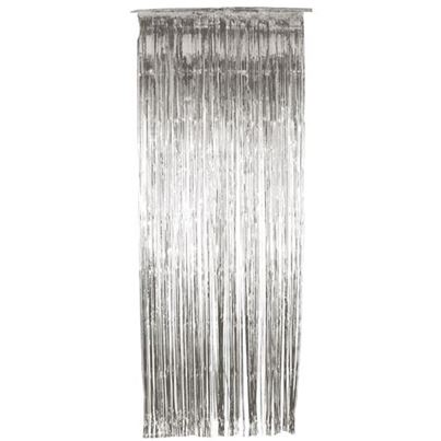 Oaktree Silver Shimmer Curtain