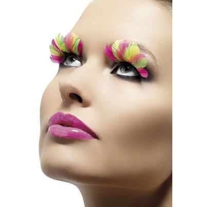 Smiffys Neon Feather Eyelashes