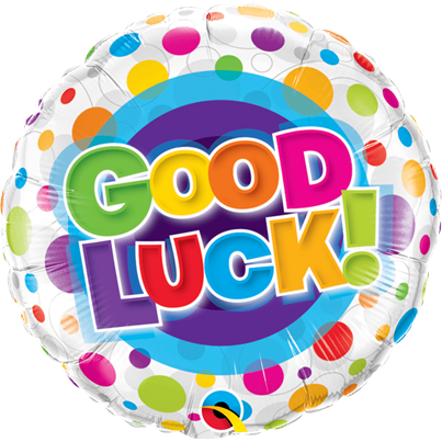 Good Luck Colourful Dots Foil