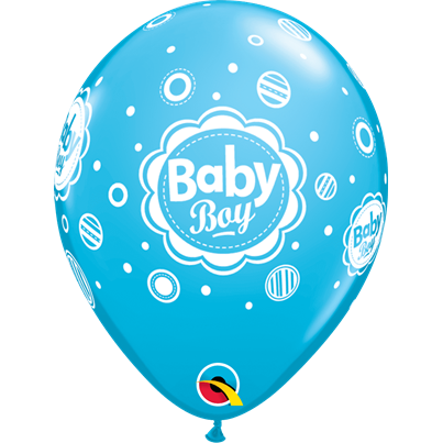 Baby Boy Dots Blue 6pk with Helium