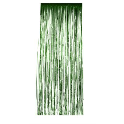 Green Shimmer Curtain