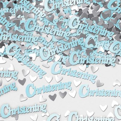 Christening Blue Metallic Confetti