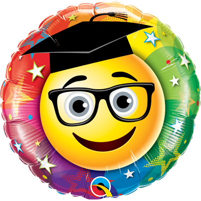 Qualatex Emoji Graduation Foil