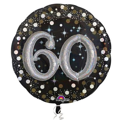 3D Sparkling Birthday 60