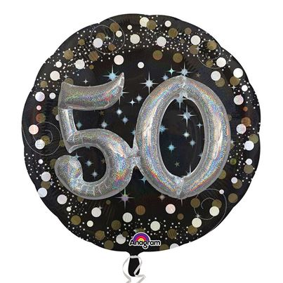 3D Sparkling Birthday 50
