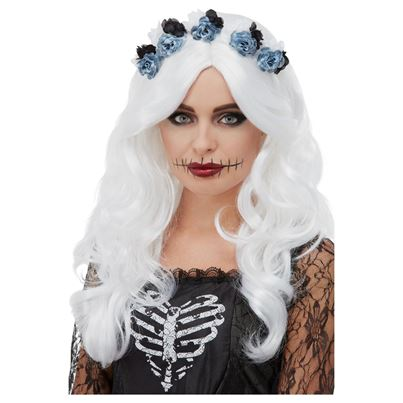 Smiffys DOTD Wig with Flowers