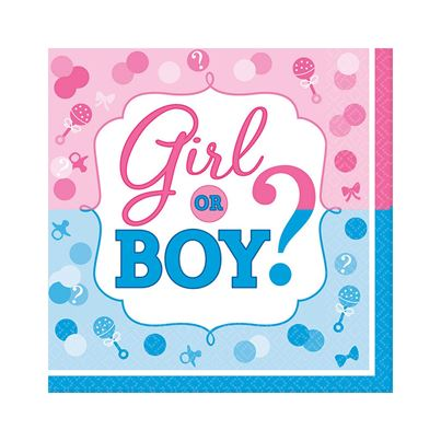 Amscan Girl Or Boy? Lunheon Napkins