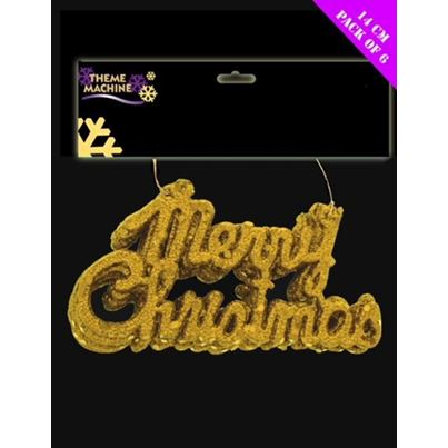 Gold Merry Christmas Hangers