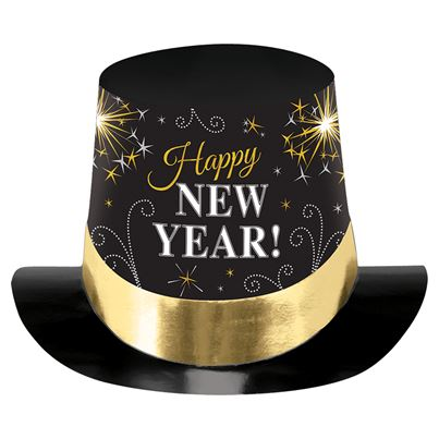 Amscan Black New Years Top Hat