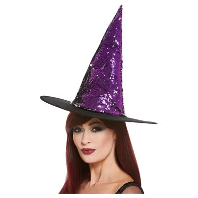 Smiffys Sequin Witch's Hat