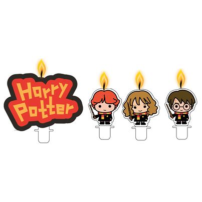Amscan Harry Potter Candles 4pk