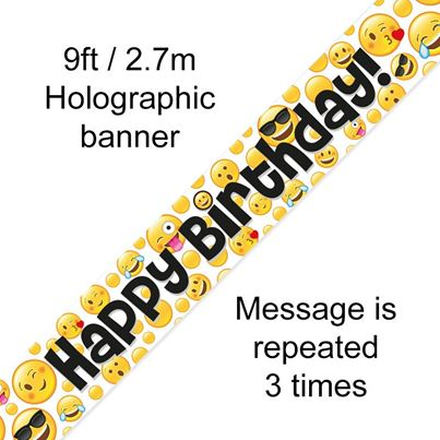 Emoji Happy Birthday Banner