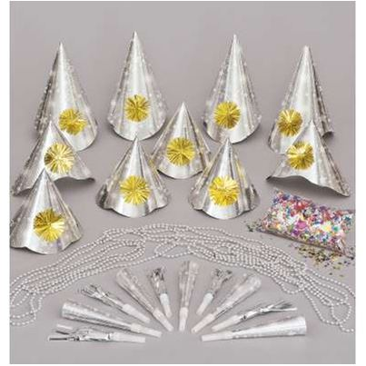 Amscan New Year Silver Accessory Kit 30pc