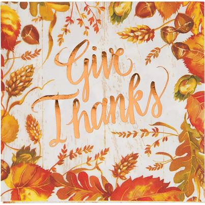 Crosswear 'Give Thanks' Napkins 16pk