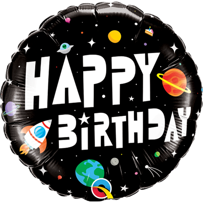 Qualatex Birthday Astronaut Foil