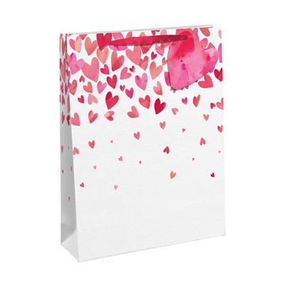 Crosswear Falling Red Hearts Gift Bag