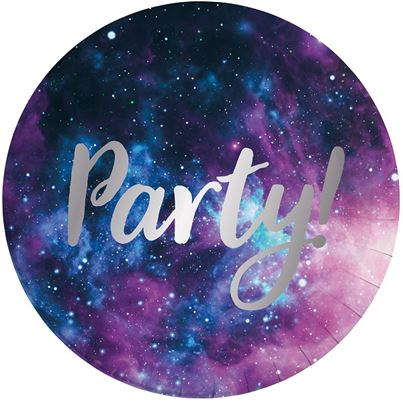 PartyDeco Galaxy Paper Plates