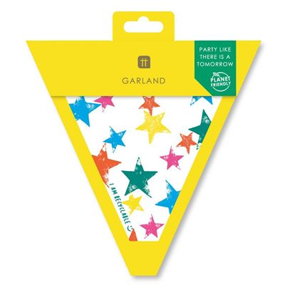 Talking Tables Planet-Friendly Rainbow Stars Bunting