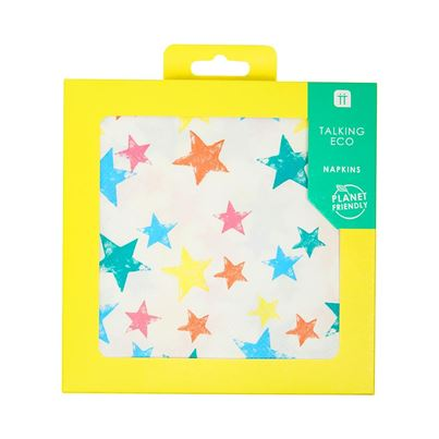 Talking Tables Planet-Friendly Rainbow Star Napkins 20pk
