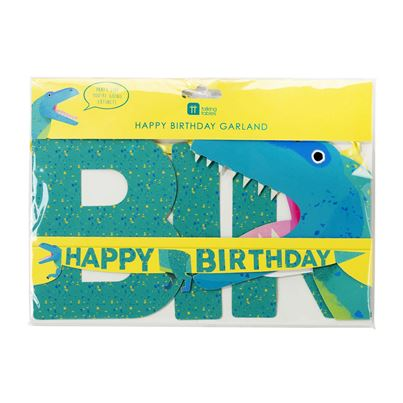 'Happy Birthday' Dinosaur Garland