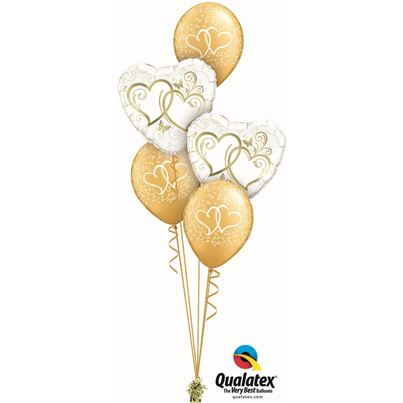Qualatex Entwined Heart Gold Classic