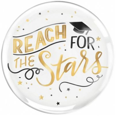 Amscan 'Reach For The Stars' Grad Plate
