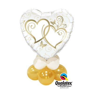 Qualatex Entwined Hearts Gold Mini