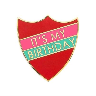 Talking Tables Birthday Prefect Badge