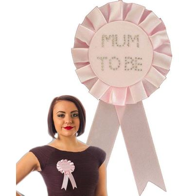 Mum To Be Rosette Pink