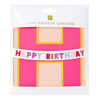 Talking Tables Pastel Birthday Banner