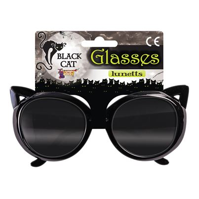 Bristol Novelty Black Cat Glasses