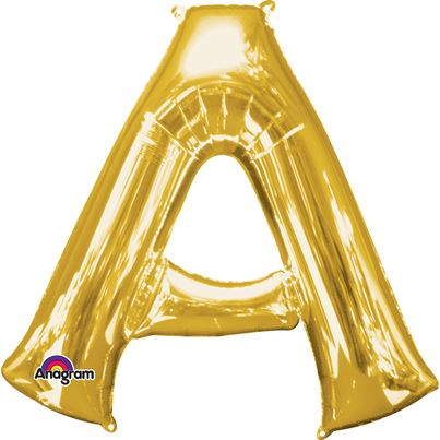 Airfill Letters - Gold