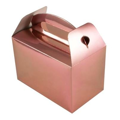 Rose Gold Party Boxes 6pk