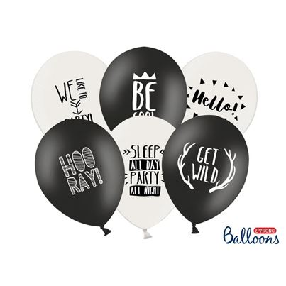 PartyDeco Black & White Party Mix Inflated