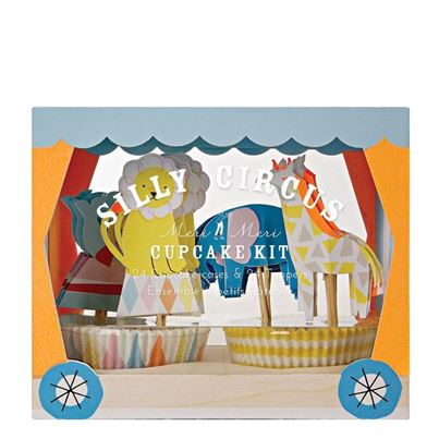Meri Meri Silly Circus Cupcake Kit 48pc
