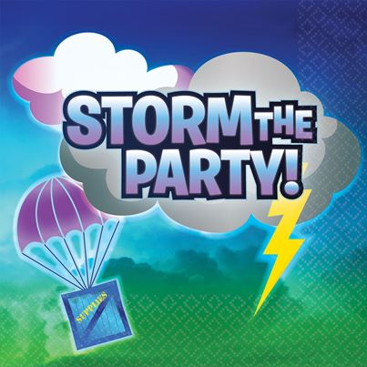 Amscan Storm the Party Napkins 16pk