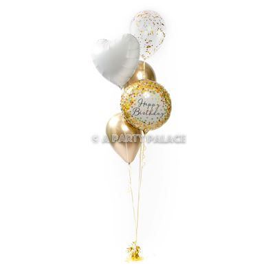 Amscan Gold and White Birthday Bunch