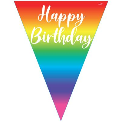 Boland Happy Birthday Rainbow Bunting